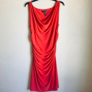 Lauren Ralph Lauren Ruched Jersey Midi Dress